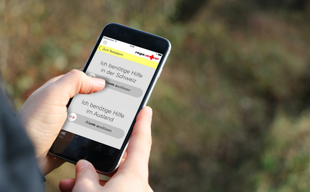 An indispensable tool in modern-day air rescue: Rega's emergency app