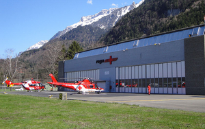 The new helicopter base in Wilderswil, in the Bernese Oberland