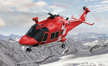 All-weather rescue helicopter AW169-FIPS (Photomontage AgustaWestland)