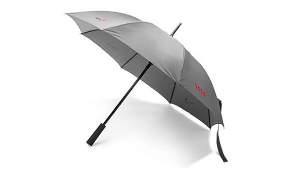 Regenschirm silber, zur vergrösserten Darstellung